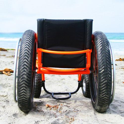 Box wheelchairs beach bomber - rear view