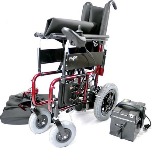 Glide series 4 wheelchair folded