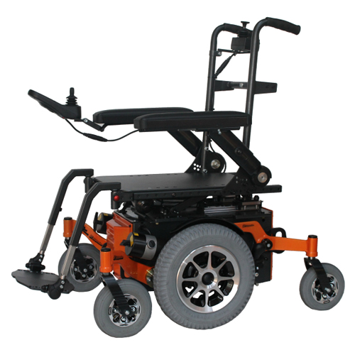 Glide Centro mid wheel drive wheelchair frame in orange