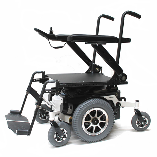 Glide Centro mid wheel drive wheelchair frame in white