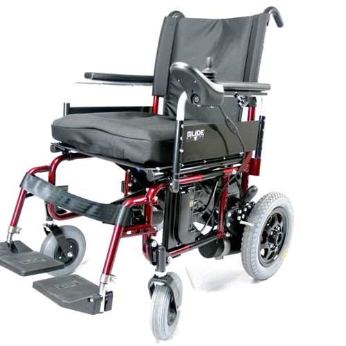 Glide series 4 wheelchair in red