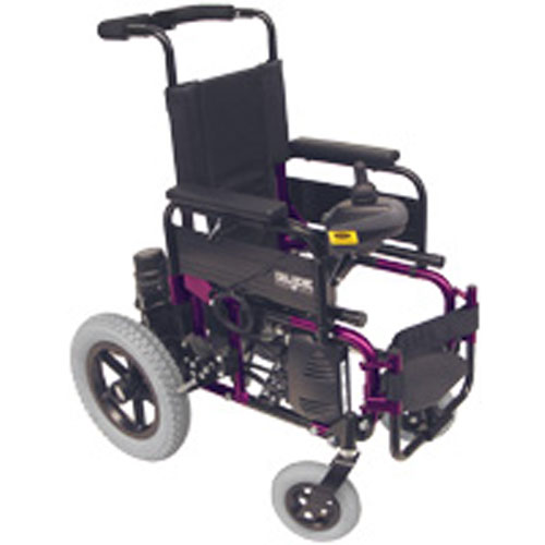 Glide Series 4 powered wheelchair for children in purple