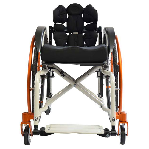 SORG Jump Beta folding wheelchair in white - front view