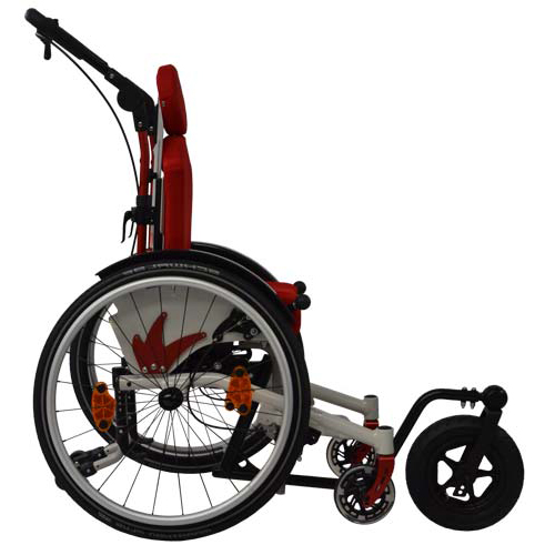 SORG Mio Move tilt-in-space children's wheelchair with outdoor front-end