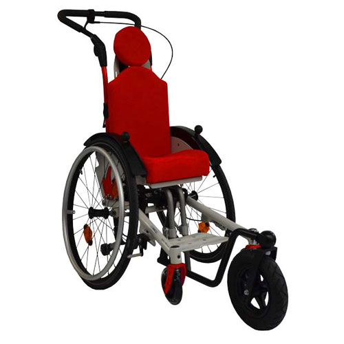 SORG Mio Move tilt-in-space children's wheelchair in white and red