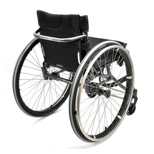 Panthera U3 lightweight manual wheelchair rear view