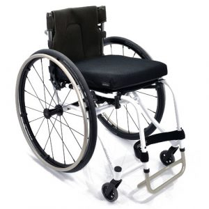 Panthera U3 Light ultralight manual wheelchair in white