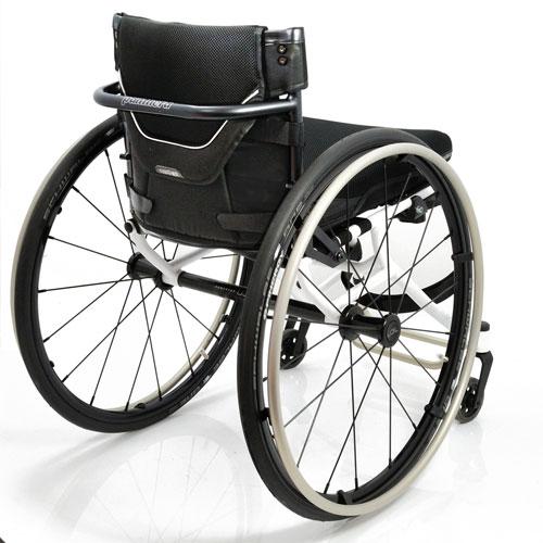 Panthera U3 Light ultralight manual wheelchair - rear view