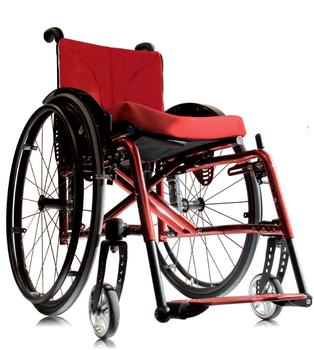 SORG Jump Beta folding wheelchair in red