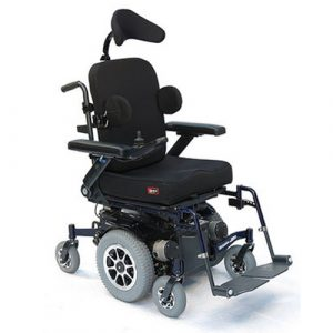 SPEX wheelchair seating on Glide Centro powered wheelchair