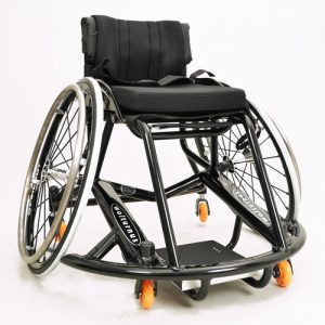 Wolturnus custom basketball wheelchair painted black
