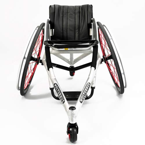Wolturnus Tennis or Badminton chair in white - front view