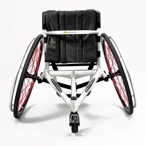 Wolturnus Tennis or Badminton chair in white - rear view