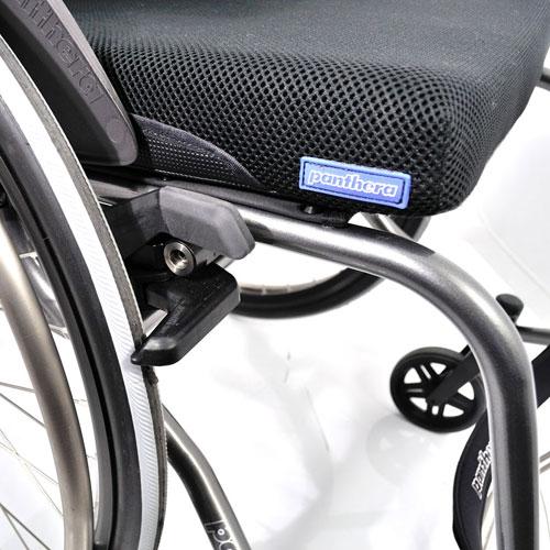 Panthera S3 lightweight manual wheelchair - view of right side brake