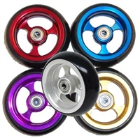 Colourful wheelchair caster wheels