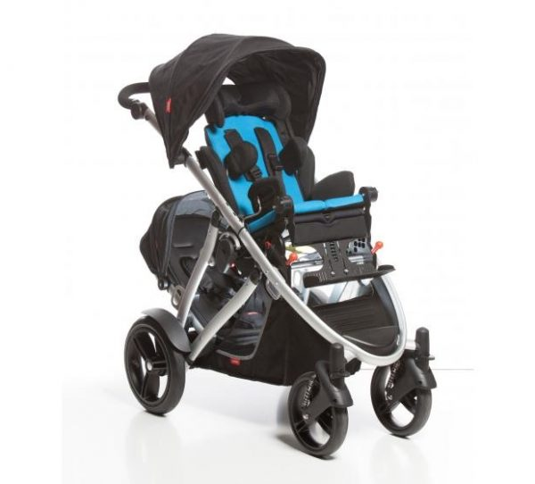 Shuttle Discovery stroller with blue covers