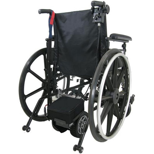 Pride Power assistance unit fitted to a wheelchair