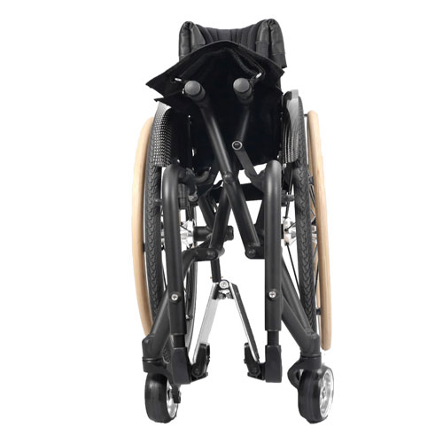 Wolturnus Merlin wheelchair in folded position