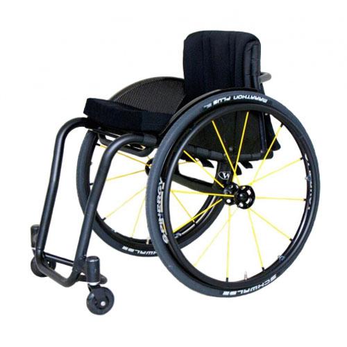 Wolturnus Tukan wheelchair in black - side view