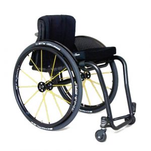 Wolturnus Tukan wheelchair in black