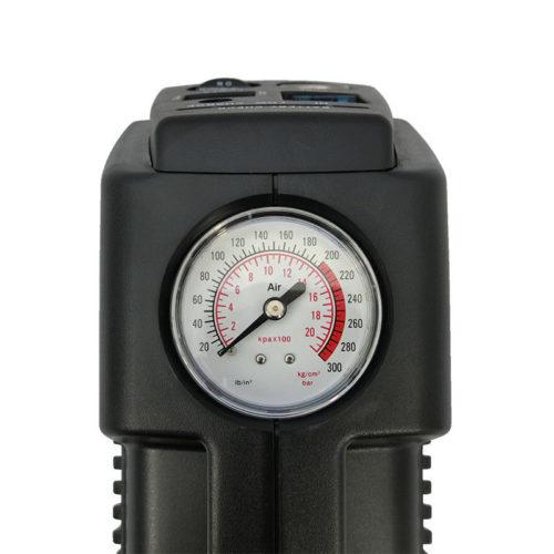Cordless wheelchair tyre air compressor - pressure gauge