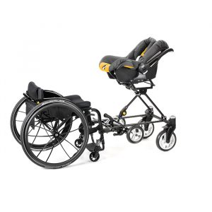 Cursum wheelchair baby seat attachment