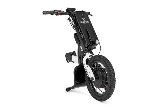 Batec Mini electric handbike in white - frontside view