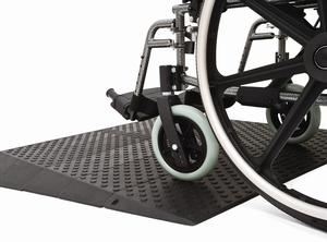 Rubber wheelchair ramps